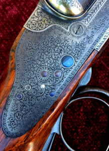 Excellent Vintage Rigby Rising Bite 12 gauge Side-by-Side British Shotgun: