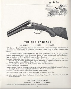 Fox SP Grade, from a 1938 A.H. Fox shotgun catalog