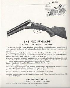 Fox SP Grade, from a 1938 A.H. Fox shotgun catalog