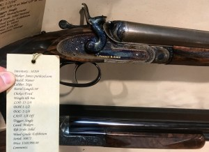 A brand new 20g Purdey hammergun with damascus bbls. Gordy & Sons had it, and that price is correct -- $169,998!
