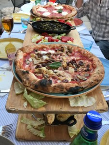 Dinner one night in Brescia