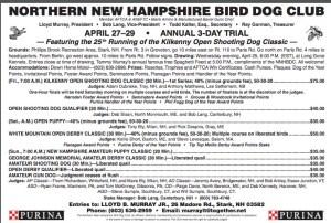 Northern NH Bird Dog Club 2018 Annual Trial, Stark, NH