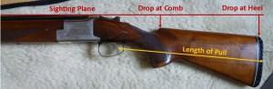 Some key measurements for shotgun fitting