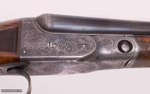 """Parker Bros. BHE, 28ga, original 26"""" Acme Steel barrels. Double triggers, automatic ejectors, and automatic safety. 1916. 1 of 4 made."""