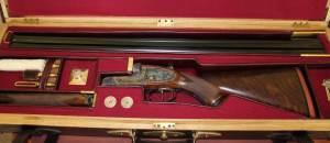 4g sidelock non-ejector SxS shotgun by Allsebrook