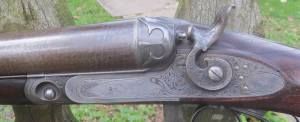 12g PARKER UNDERLIFTER HAMMER SHOTGUN - SER. No 6943 - 300 DOLLAR GRADE - LISTED IN PARKER BOOK AS CENTENNIAL GUN