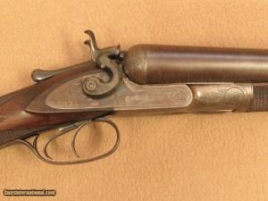 Colt 1878 10 Gauge Double Barrel Hammer Shotgun, Grade 8, 32 Damascus Barrel, 1881 Vintage