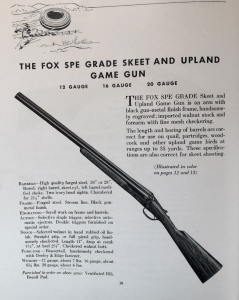 From an A.H. Fox catalog, 1935