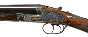 LOT 1045, POULIN AUCTIONS SPRING 2019 SALE: MAGNIFICENT HOLLOWAY & NAUGHTON BEST CASED TWO BARREL SET SIDELOCK SXS SHOTGUN:
