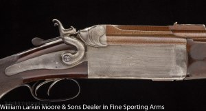 W.W. GREENER O/U Hammer Express 12-bore rifle Cased in O&L Mfg 1886 Very rare and very nice condition
