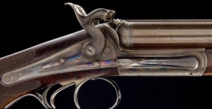"""JD DOUGALL Lockfast, Side Lever Back action hammer Express, .500 3"""" BPE Mfg 1869 Exceptional condition"""