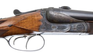 GREIFELT PRE WAR CLAM SHELL SXS DOUBLE RIFLE 45-7