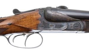 GREIFELT PRE WAR CLAM SHELL SXS DOUBLE RIFLE 45-7