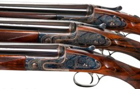 J Purdey & Sons Pre-Owned Trio of 20 bore Sidelock Ejector Over-and-Under Shotguns ordered by Sir Joseph Nickerson with Single Triggers. Set of 3 guns - #1 & #2 guns with Spare 26""