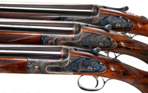 """J Purdey & Sons Pre-Owned Trio of 20 bore Sidelock Ejector Over-and-Under Shotguns ordered by Sir Joseph Nickerson with Single Triggers. Set of 3 guns - #1 & #2 guns with Spare 26"""""""