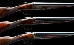 David McKay Brown Trio of 16g Side by Side Game Guns