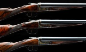 David McKay Brown Trio of 16g Side by Side Game Guns
