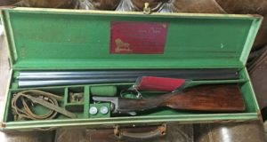 John Dickson of Edinburgh Classic Round action with great original barrels and stock dimensions ~ Light at 6 lbs. 4.5 oz.! Makers case!