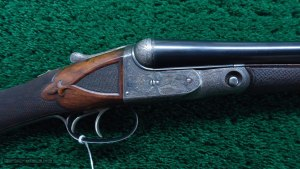 VERY RARE AH GRADE PARKER 12 GAUGE SIDE-BY-SIDE SHOTGUN AT MERZANTIQUES.COM