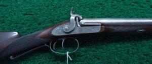 BEAUTIFULLY MADE DOUBLE BARREL 14 GAUGE PERCUSSION SHOTGUN BY JOHN BLANCH
