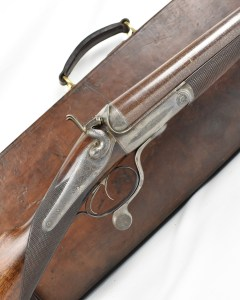 R.B Rodda 4 Bore hammer shotgun at Giles Marriott in the UK
