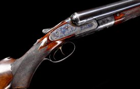 """Stunning, all original 8 gauge Lefever shotgun with 32"""" Whitworth fluid steel bbls. Thought to have been made for President Grover Cleveland."""
