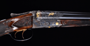 The most extraordinary Fox Shotgun upgrade Extant - A Grade Special Made for W.H. Gough with nearly a dozen Gold Inlays- Truly Exceptional!!!