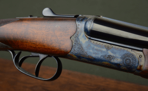 """SKB Estate 20 Gauge Bird Gun with 28"""" Barrels, Double Triggers, and Long Length of Pull– Excellent"""
