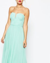 ASOS PETITE WEDDING Ruched Bodice Bandeau Maxi Dress
