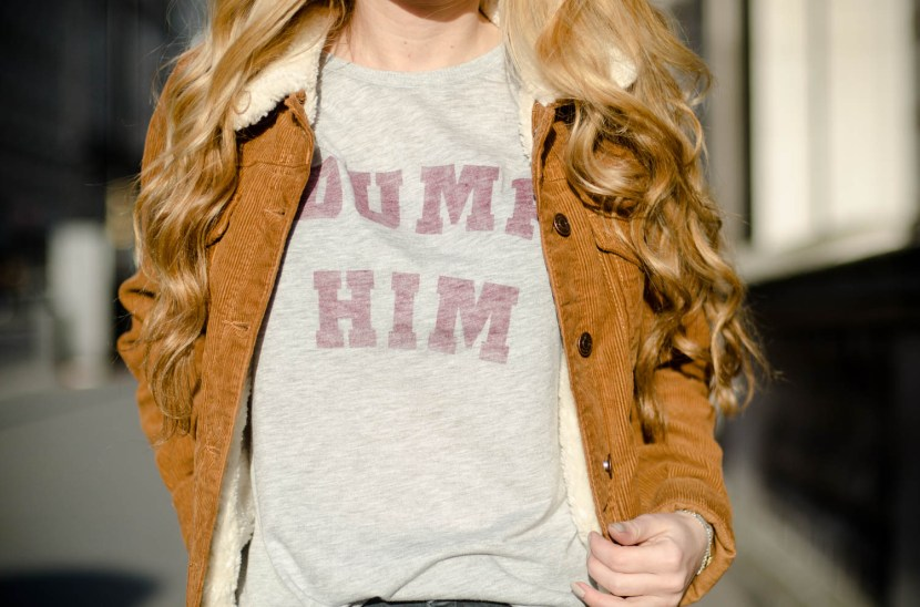 Dump Him Topshop Slogan T-Shirt