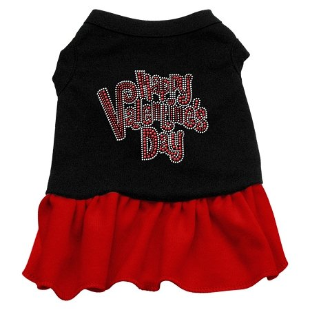 Happy Valentine's Day dog black and red dog dress