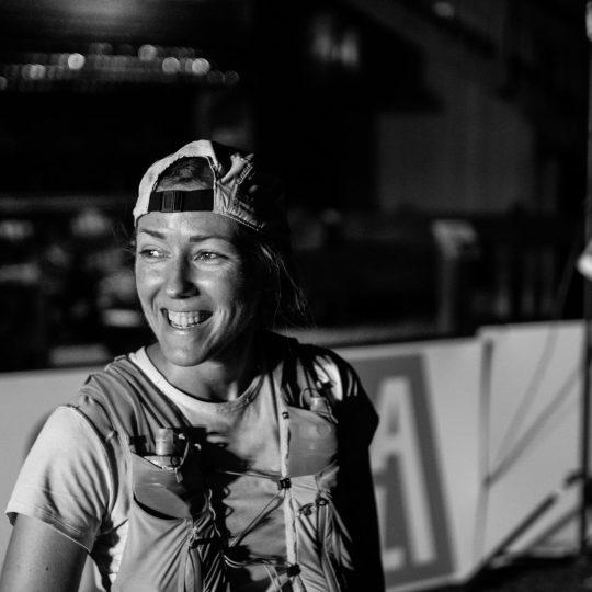 QMT100マイル女子優勝のオードレー・ラフレニエール Photo by Quebec Mega Trail