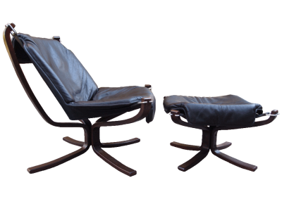 Falcon Chair and Ottoman