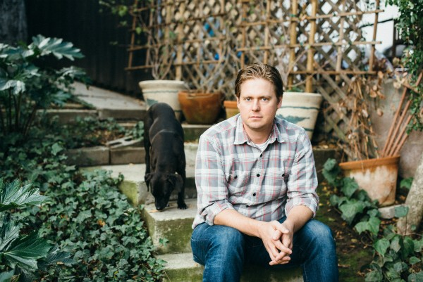 Comedian, actor and singer-songwriter Tim Heidecker enjoys time with his dog, Molly. (Cara Robbins photo)