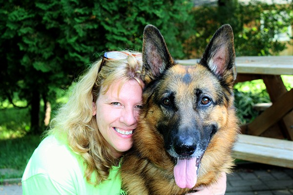 NMPGA Co-Founder Kelly Crawford and her pup, Jaeger.