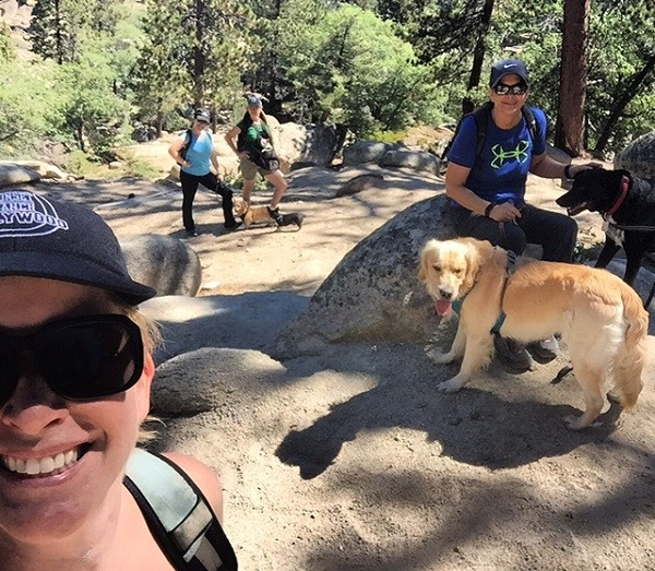 4 Women + 5 Dogs = Awesome Getaway (Photo by Wendy Newell)