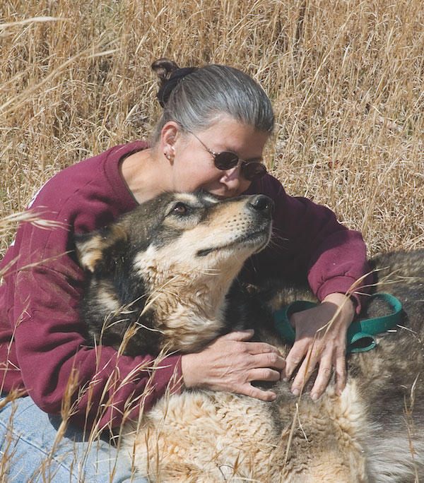 Nancy with Zodiak. (Photo courtesy Full Moon Farm)