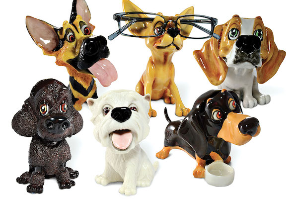 Doggie eyeglass holders by Paws N Claws and Optipet.