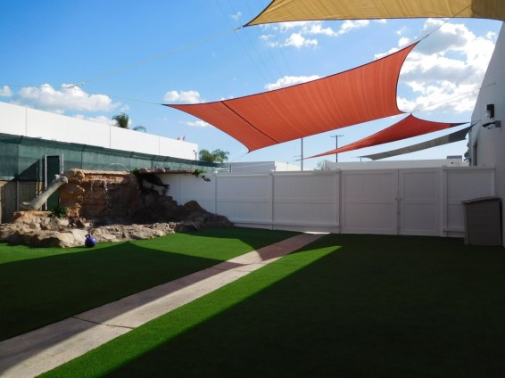 Gym Yard, Pool Waterfall & Shade Sails