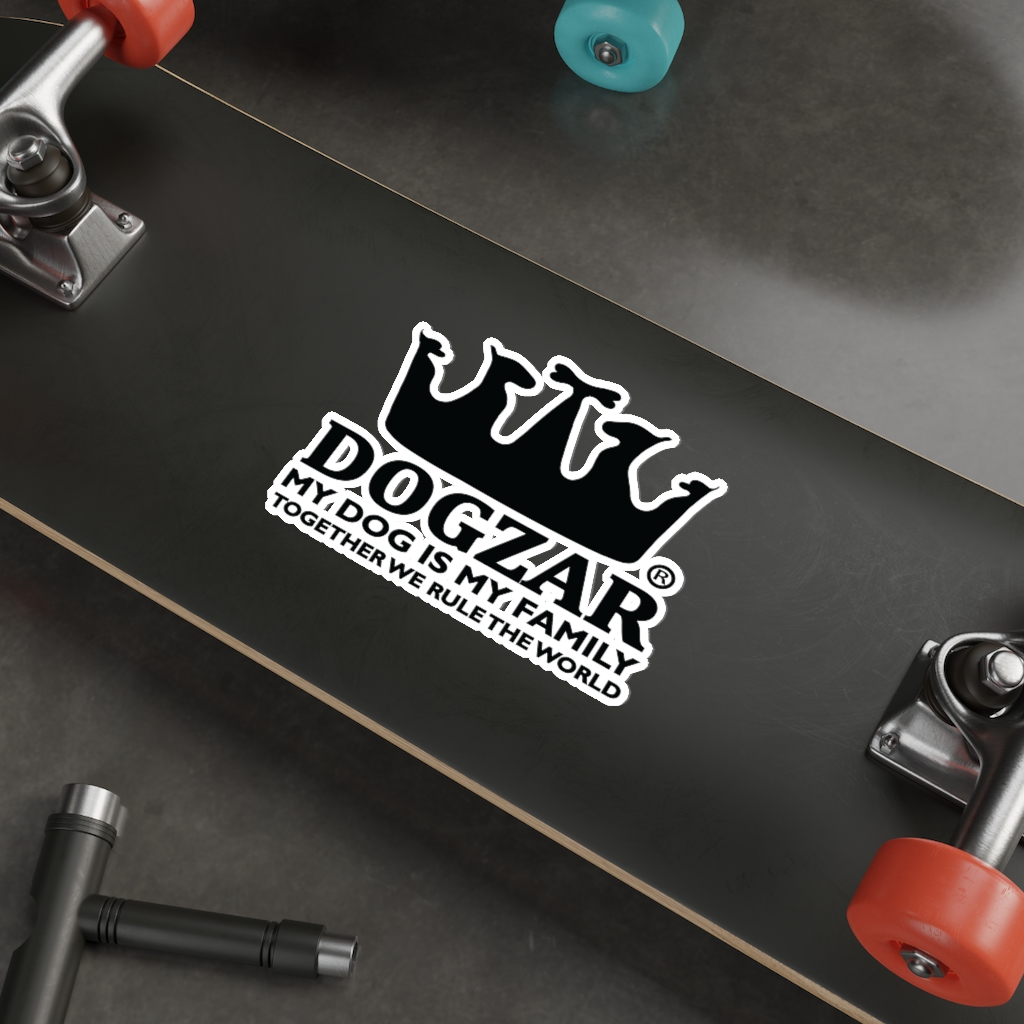 DOGZAR® My Dog is My Family Vinyl Sticker - DOGZAR® logo