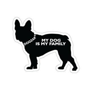 DOGZAR® My Dog is My Family Vinyl Sticker - French Bulldog