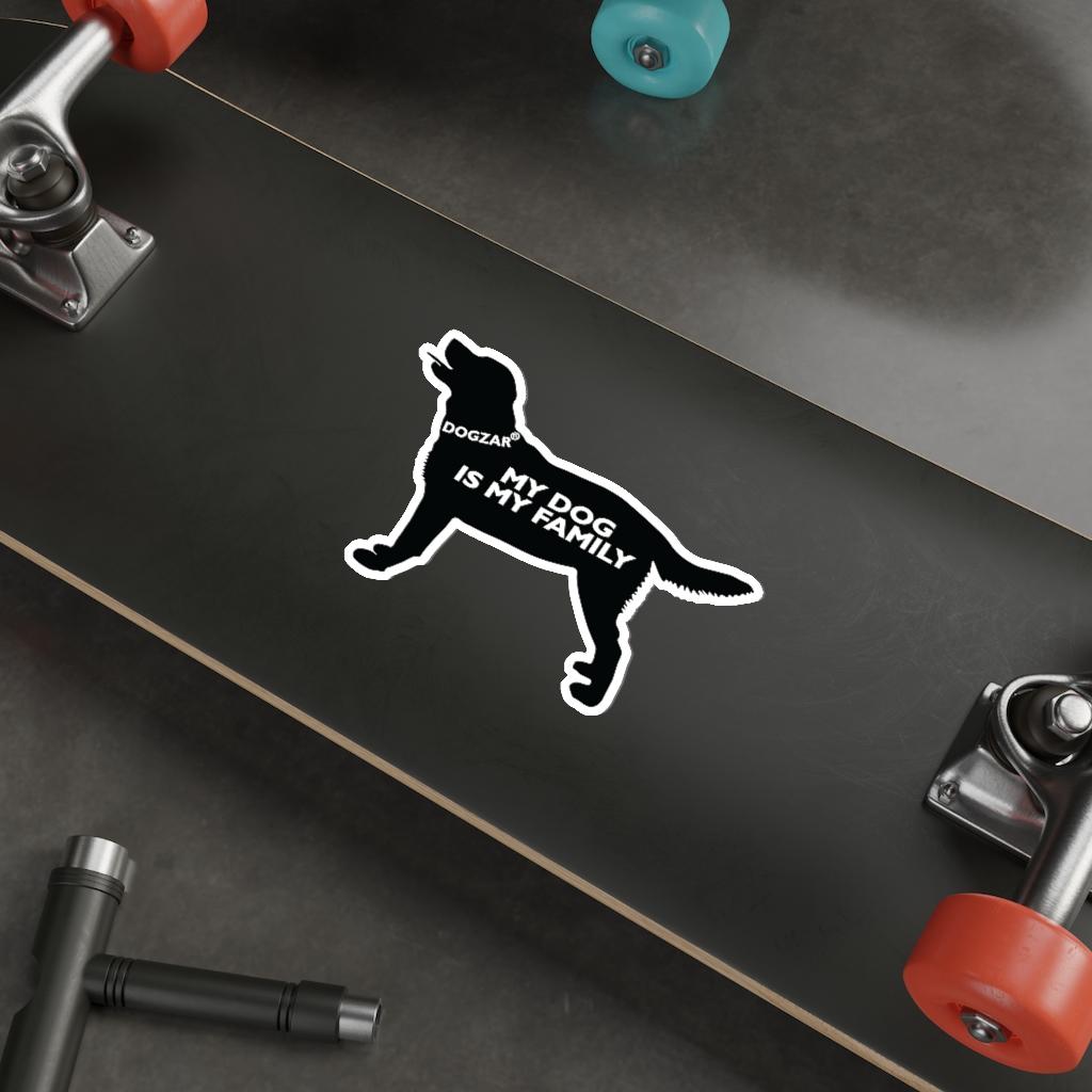 DOGZAR® My DOG is My Family Vinyl Sticker - Labrador Retriever