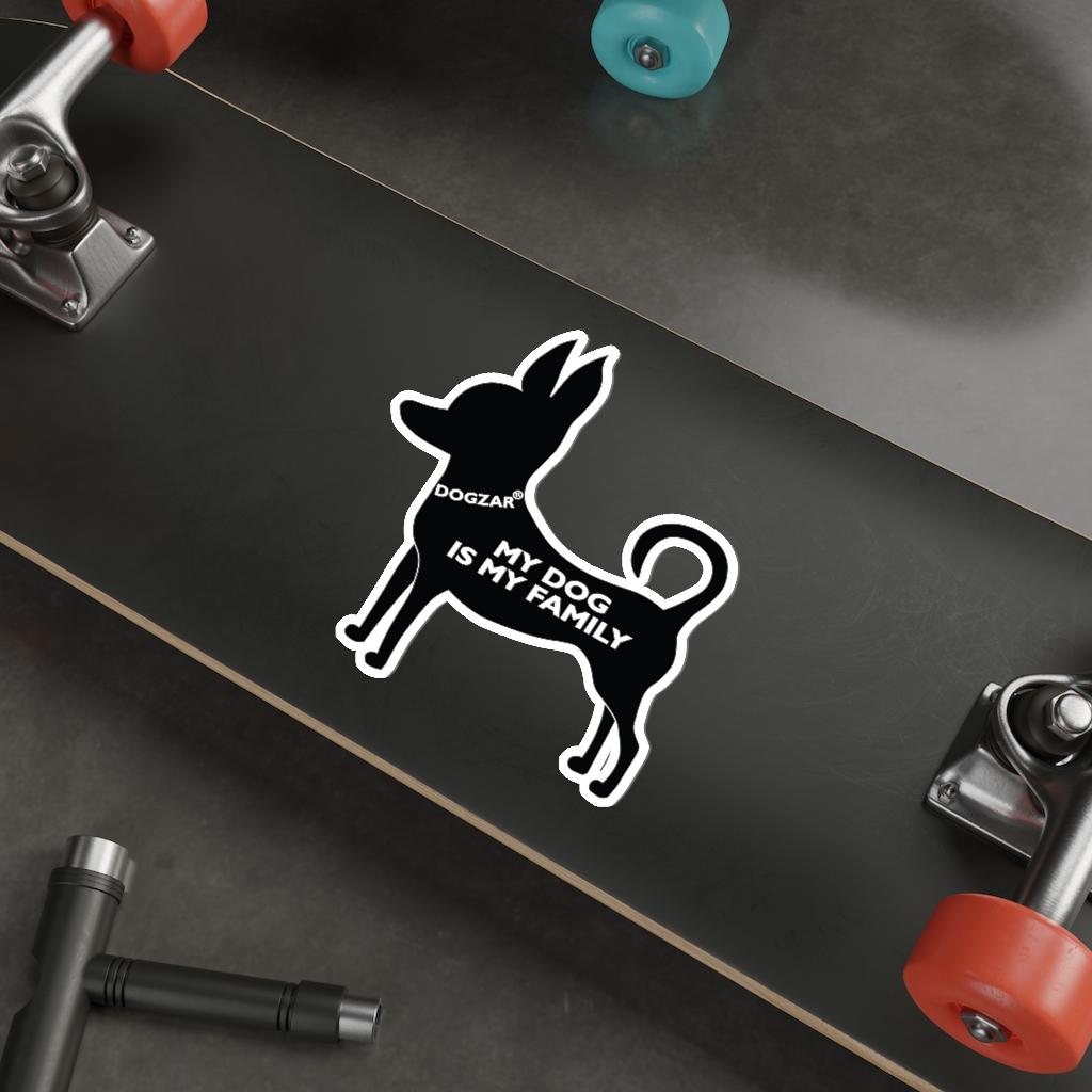 DOGZAR® My Dog is My Family Vinyl Sticker - Chihuahua