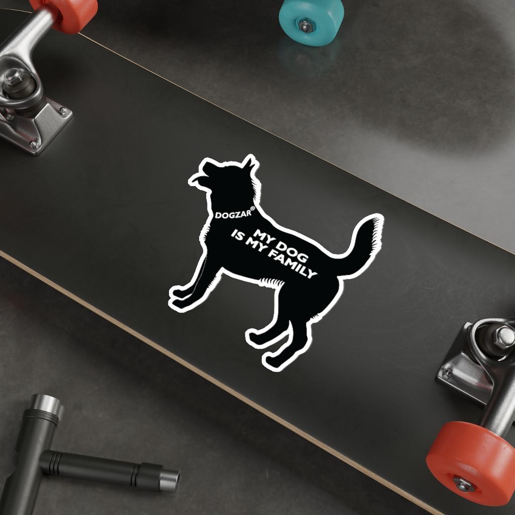 DOGZAR® My DOG is My Family Vinyl Sticker - Australian Cattle Dog