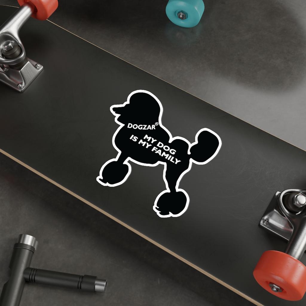DOGZAR® My DOG is My Family Vinyl Sticker - Poodle (Lion Cut)