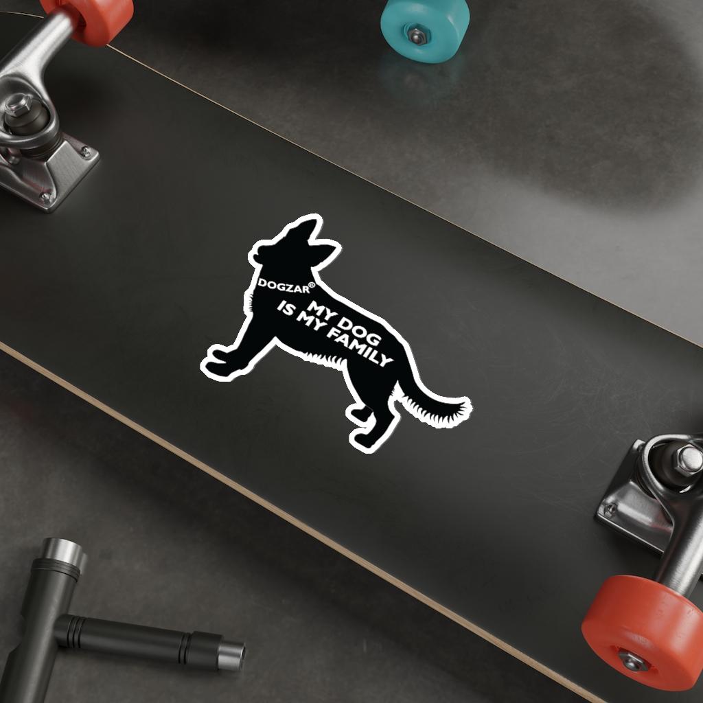 DOGZAR® My DOG is My Family Vinyl Sticker - German Shepherd