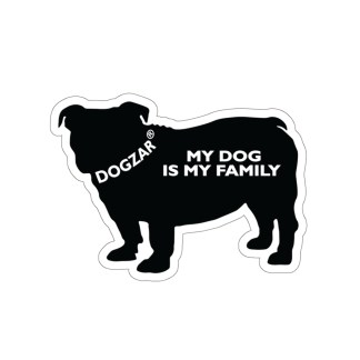 DOGZAR® My DOG is My Family Vinyl Sticker - English Bulldog