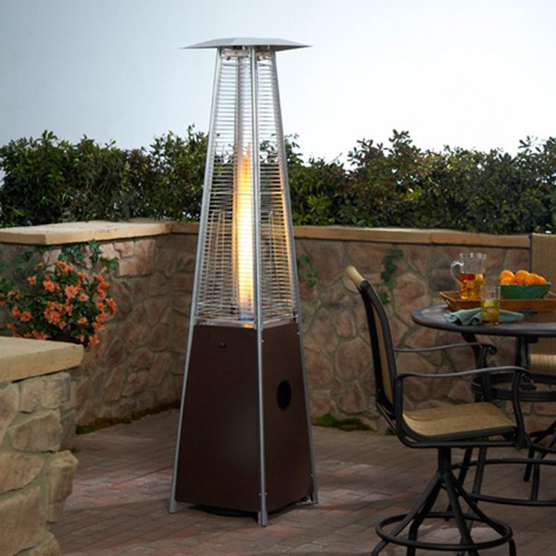 91 tall radiant heat glass tube outdoor patio heater hammered bronze finish for sale