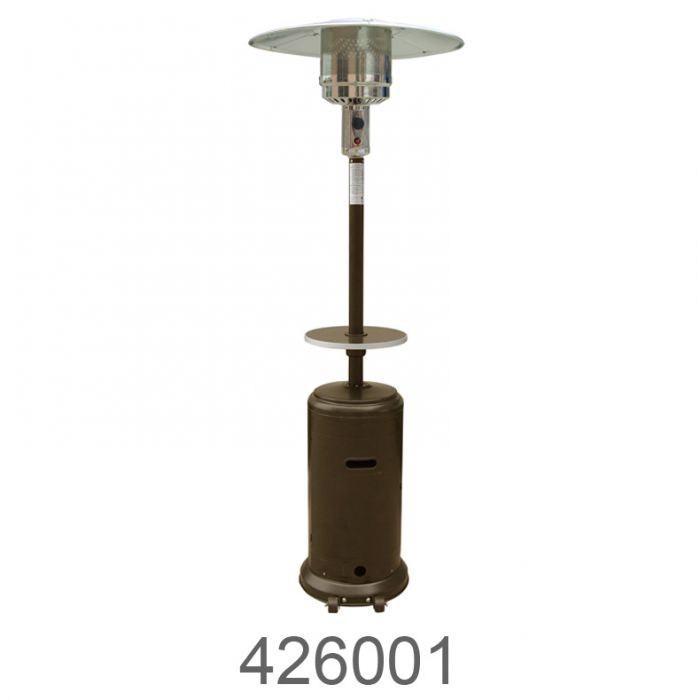 az patio heaters 87 in tall outdoor patio heater with table hammered gold