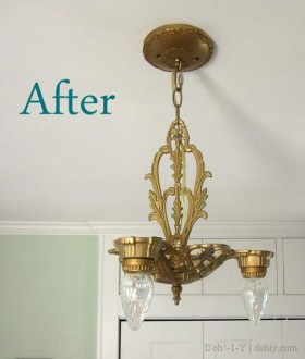 Replacing a Ceiling Light Canopy and Installing a Ceiling Light   D     fixture after with letters